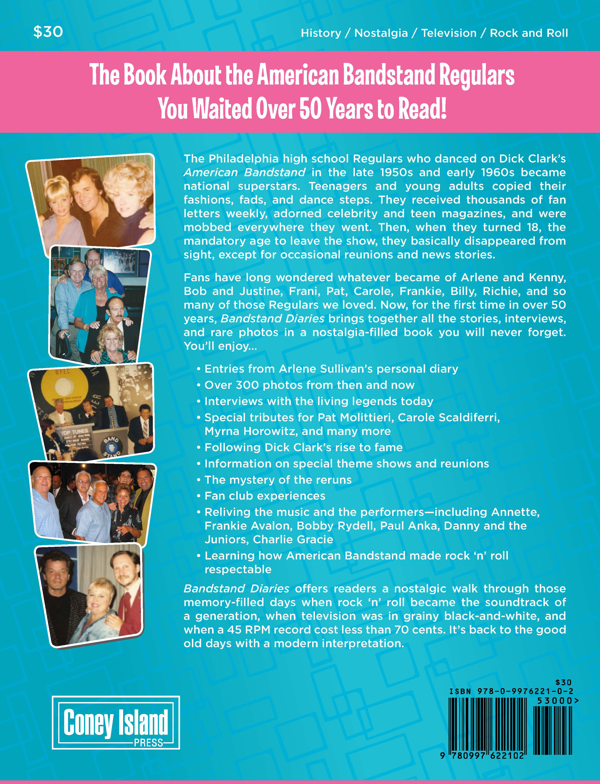 Bandstand Diaries the Philadelphia Years by Arlene Sullivan Back Cover